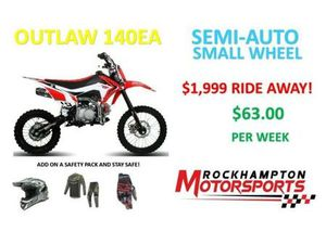 BRAND NEW OUTLAW 140EA SEMI-AUTO ELECTRIC START DIRT BIKE IN STOCK NOW!!