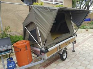 LIGHT WEIGHT MOTORCYCLE CAMPER TRAILER FOR SIDECAR