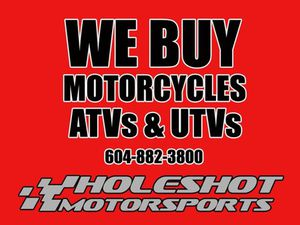 HUSQVARNA® WE BUY USED MOTORCYCLES