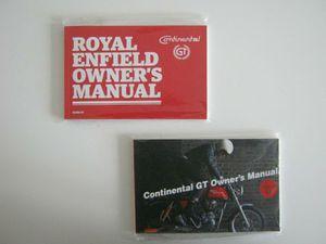 BEDIENUNGSANL./FAHRERHANDBUCH ROYAL ENFIELD CONTINENTAL GT 535