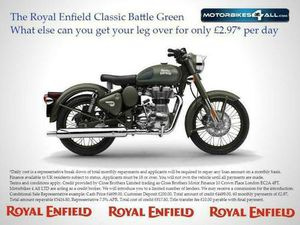 ROYAL ENFIELD CLASSIC BATTLE GREEN MILITARY | IN MALVERN, WORCESTERSHIRE | GUMTREE