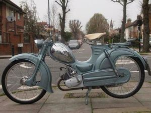 ZUNDAPP COMBINETTE MODEL TYPE 423 CLASSIC VINTAGE AUTOCYCLE RARE / 98% RESTORED | IN GREEN