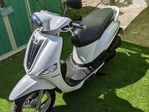 YAMAHA XC 115 D'ELIGHT SCOOTER IN METALLIC WHITE, JUST 6800 MILES!