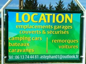 Location emplacement hivernage gardiennage véhicule bateau camping-car
