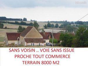 PROCHE DE TOUT CORPS DE FERME TERRAIN 6000 m2 a 8000 m2 ............ HABITABLE AVEC CONFOR