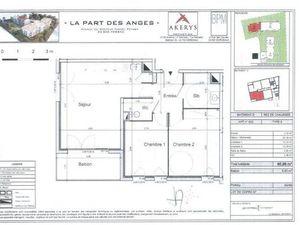 Location appartement 3 pièces (cuisine aménagée  balcon  wc séparé  stationnement) Pessac