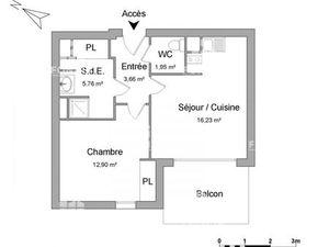 Appartement 2 pièces à louer - Le Bouscat (33110) - 40.5 m2 - Foncia