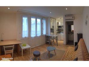 Studio meublé lumineux avec terrasse