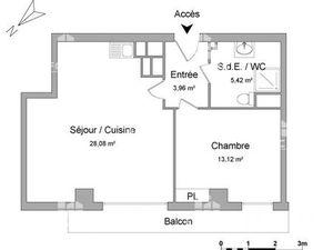Appartement 2 pièces à louer - Bordeaux (33800) - 50.58 m2 - Foncia