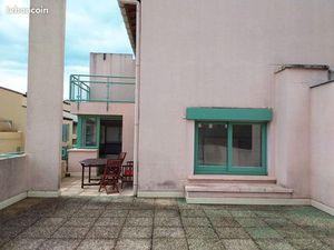 3 pièces duplex 66m²  58m² terrasses  box fermé