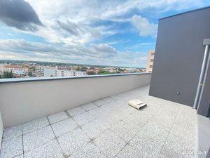 Minimes T4 duplex neuf dernier étage + VUE + 33m² de terrasse + 2 pk + cave