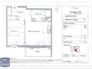Location appartement Le Petit-Quevilly (76140) 2 pièces 41.01m²  562€ - Réf : GES89870010-