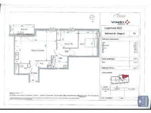 Location appartement Le Petit-Quevilly (76140) 3 pièces 67.81m²  764€ - Réf : GES89870111-
