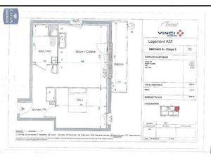 Location appartement Le Petit-Quevilly (76140) 2 pièces 43.02m²  575€ - Réf : GES89870014-
