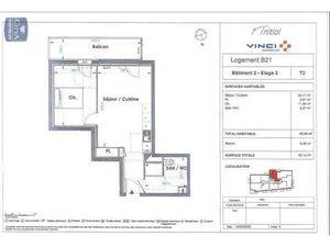 Location appartement Le Petit-Quevilly (76140) 2 pièces 43.88m²  596€ - Réf : GES89870110-