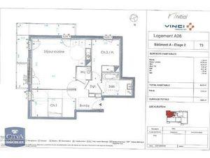 Location appartement Le Petit-Quevilly (76140) 3 pièces 62.32m²  732€ - Réf : GES89870012-