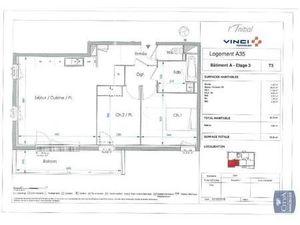 Location appartement Le Petit-Quevilly (76140) 3 pièces 62.75m²  740€ - Réf : GES89870017-