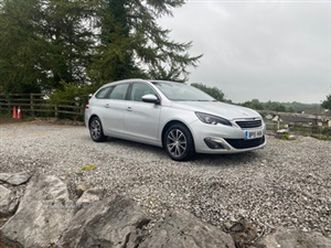 used 2015 peugeot 308 allure sw hdi blue s/ estate 127,000 miles in silver for sale | cars