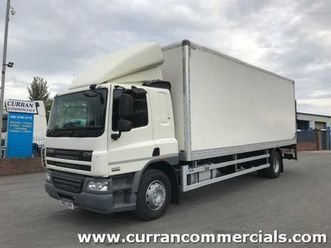 2012 daf cf 65 220 18ton box with tail lift for sale in armagh for €1 on donedeal