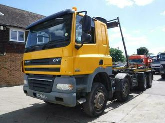 2012 daf cf85.360 8x4 hook loader