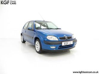 a tremendous citroen saxo vtr with 29,938 miles and one registered owner (2003)