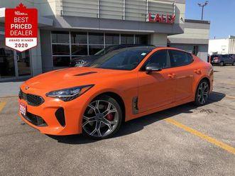 used 2021 kia stinger gt limited - neon orange