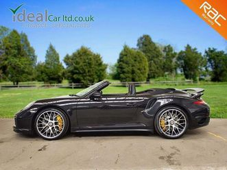 porsche 911 3.8 991 turbo s cabriolet pdk awd 2dr1 owner - low rate finance
