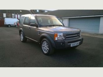 land rover discovery 3 2.7 td v6 xs 5dr7 seater with full history