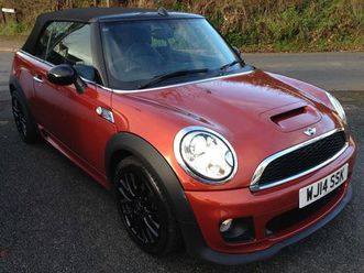 mini convertible 1.6 cooper s 2dr2 owners. only 21,000 miles