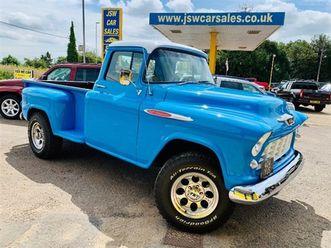 used 1955 chevrolet stepside 3100 pickup 5.7 v8 hemi not specified 24,000 miles in blue fo