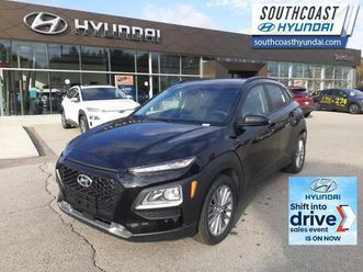 used 2021 hyundai kona 2.0l luxury awd - leather seats - $185 b/w