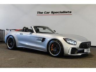 mercedes amg gt r roadster v8, only 60 miles! iridium silver, airscarf, amg high performan