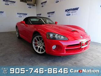 used 2004 dodge viper srt10 | convertible | wow only 6,000km! | rare!