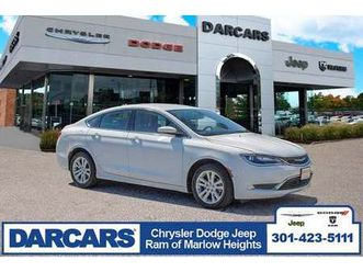 white color 2016 chrysler 200 limited for sale in temple hills, md 20746. vin is 1c3cccab5