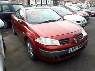 2005 renault megane cc 1.9 dci diesel dynamique hardtop convertible from £2,695