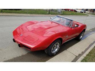 for sale at auction: 1975 chevrolet corvette in carlisle, pennsylvania