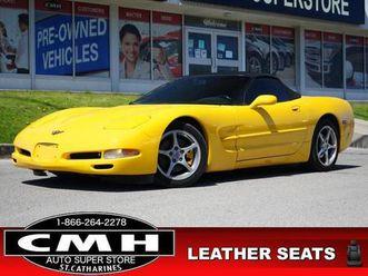 used 2001 chevrolet corvette base hud bose leath p/seats 18-al