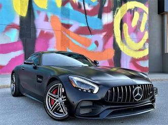 used 2018 mercedes-benz amg gt amg gt c coupe v8 biturbo vented seats exhaust alloys!