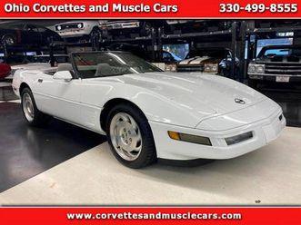 1996 chevrolet corvette american muscle car