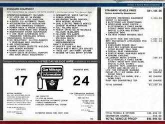 1993 chevrolet corvette 40th anniversay convertible