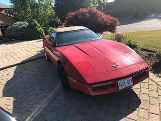 1989 red convertible corvette | cars & trucks | markham / york region | kijiji