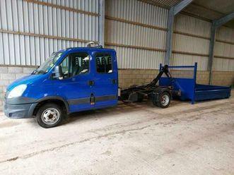 2014 iveco daily 50c15 3.0 td 150 hp crew cab hook loader na diesel manual