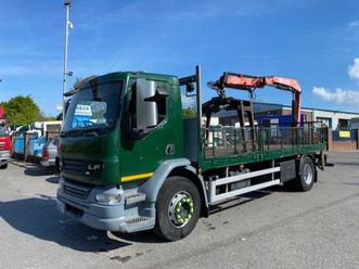 2010 daf lf 55 220 4x2 18t flat with remote crane for sale in armagh for €1 on donedeal