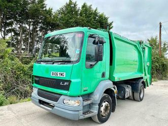 daf lf55.180 dustcart garbage refuse truck 13 ton none addblue campsite island