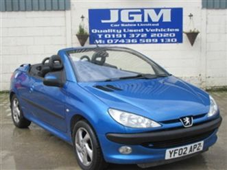 used 2002 peugeot 206 1.6 s 2dr convertible 80,000 miles in blue for sale | carsite