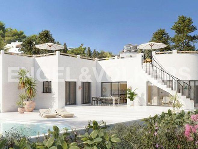 magnifique villa ibérique orientée sud avec vue sur la mer  jávea