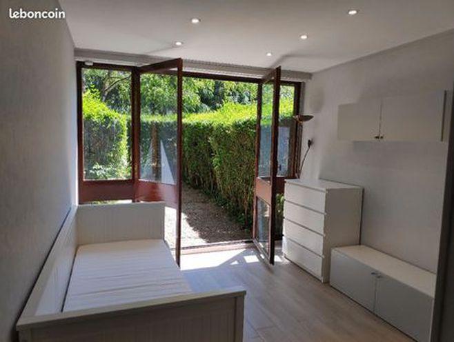 studio neuf calme avec jardin privé